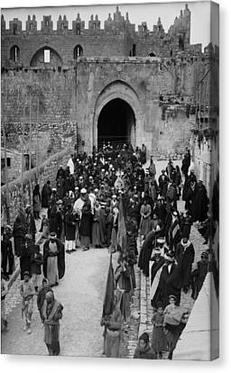 1920s Candid Canvas Print - Muslim Funeral, Mohammedan Funeral by Everett