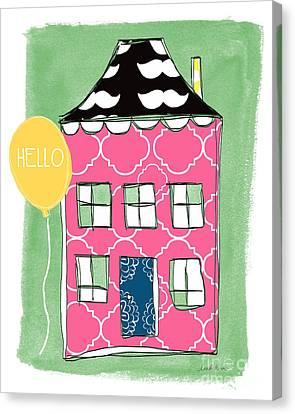 Mustache House Canvas Print