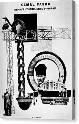 Mustafa Kemal Ataturk (1881-1938) Canvas Print by Granger