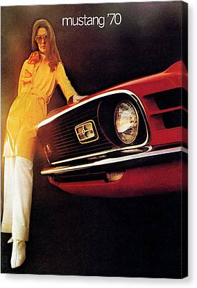Mustang '70 Canvas Print by Digital Repro Depot