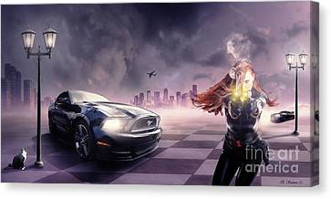Canvas Print featuring the photograph Mustang by Bruno Santoro