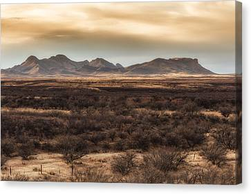 Canvas Print featuring the photograph Mustang Mountains by Beverly Parks
