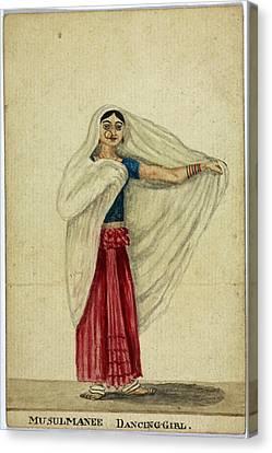 Musulmanee Dancing-girl Canvas Print