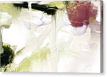 Muted Clay White Canvas Print
