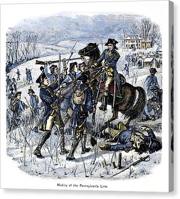 Mutiny: Anthony Wayne 1781 Canvas Print by Granger