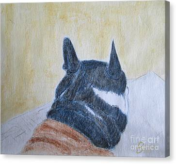 Mutthead And His Blankie Canvas Print by Blg H