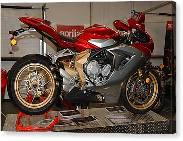 Canvas Print featuring the photograph Mv Agusta by Lawrence Christopher