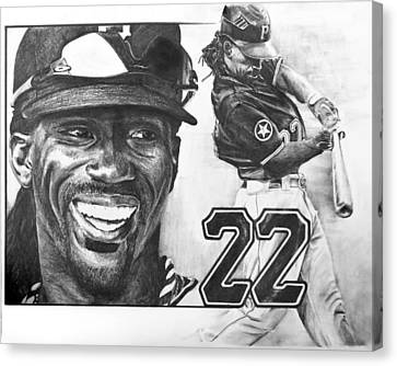 Mvp Andrew Mccutchen Canvas Print by Susan Rosa