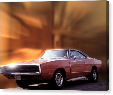 My 70 Charger 440 Six Pack Canvas Print by Thomas Woolworth