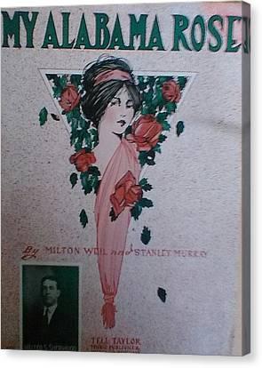 My Alabama Rose  Canvas Print by Jeanette  Malinchok