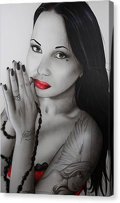 Portrait - ' My Angel Of Light ' Canvas Print
