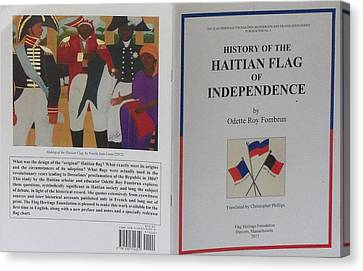 My Artwork The Making Of The Haitian Flag In Publication Canvas Print by Nicole Jean-Louis