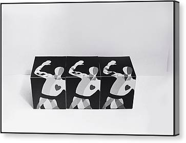 My Bauhaus Harlequin Canvas Print by Charles Stuart