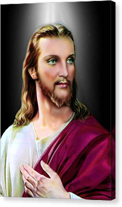 My Beautiful Jesus Canvas Print by Karen Showell