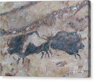 My Bison Lacaze Cave Painting Canvas Print by Pat Craft