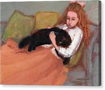 My Black Cat Canvas Print by J Reifsnyder