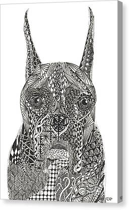 My Buddy - Boxer Canvas Print by Dianne Ferrer