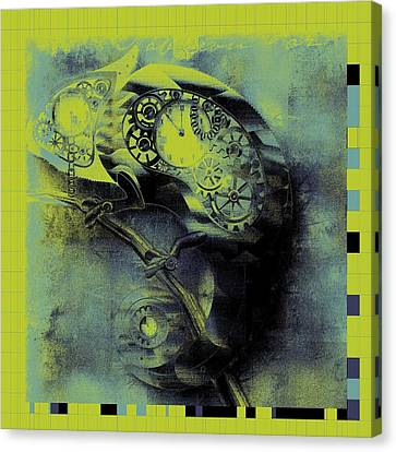 Chameleon - Lime - 01b02 Canvas Print by Variance Collections