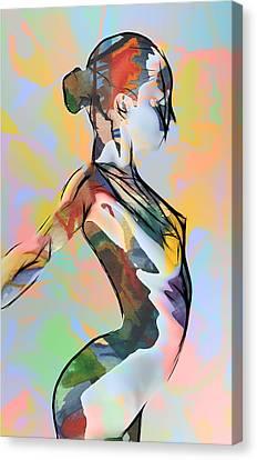 My Colorful Ballerina  Canvas Print