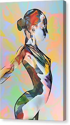 My Colorful Ballerina  Canvas Print by Stefan Kuhn