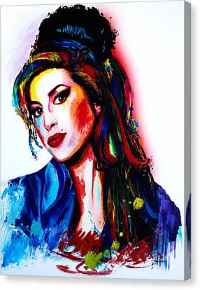 My Colors For Amy Canvas Print by Isabel Salvador