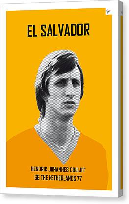 My Cruijff Soccer Legend Poster Canvas Print by Chungkong Art