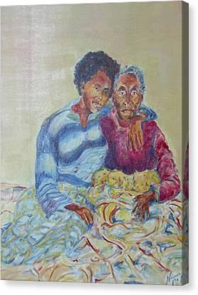My Dear Grandma Canvas Print by Esther Newman-Cohen