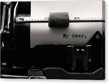 Typewriter Canvas Print - My Dear by Luiz Laercio