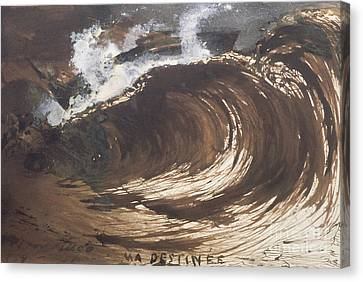 Storm Canvas Print - My Destiny by Victor Hugo