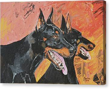 My Dobermans Canvas Print