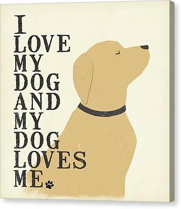 DOG ART PRINT I Love My Dog and my Dog Loves Me Jo Moulton