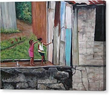My Doll House Canvas Print by Migdalia Bahamundi