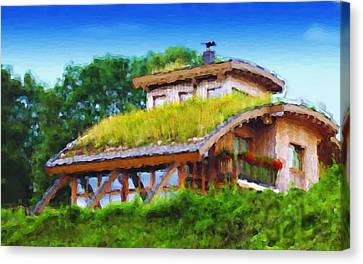 My Dream House Canvas Print by Gabriel Mackievicz Telles