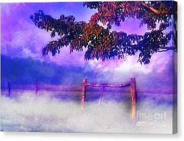 Fence Row Canvas Print - My Dreams Lay Beyond by Michael Eingle