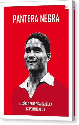 My Eusebio Soccer Legend Poster Canvas Print by Chungkong Art