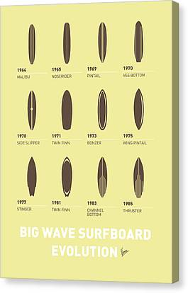 My Evolution Surfboards Minimal Poster Canvas Print by Chungkong Art