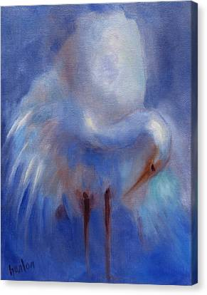 My Fair Egret Canvas Print by Susan Hanlon
