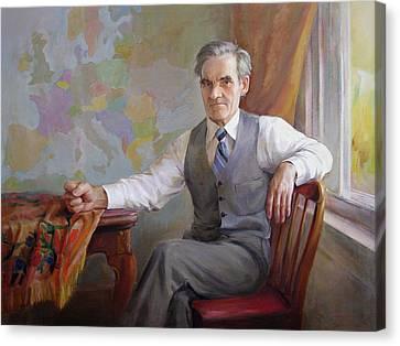 Canvas Print featuring the painting My Father Taras by Svitozar Nenyuk