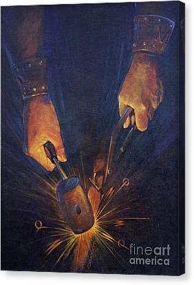 My Fathers Hands Canvas Print