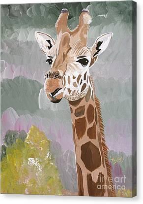 My Favorite Giraffe Canvas Print