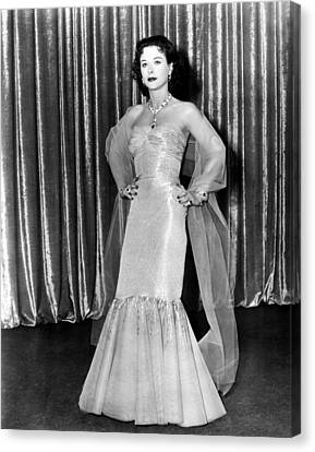 My Favorite Spy, Hedy Lamarr, In A Gown Canvas Print by Everett