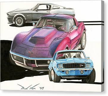 My Favorite Three Canvas Print by Paul Kim