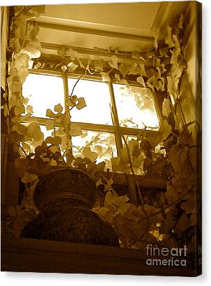 My Favorite Window At The Mill Canvas Print by Delona Seserman