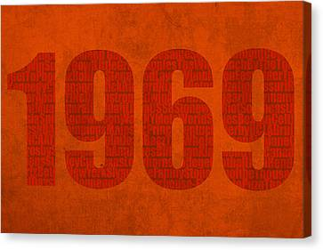 My Favorite Year 1969 Word Art On Canvas Canvas Print by Design Turnpike