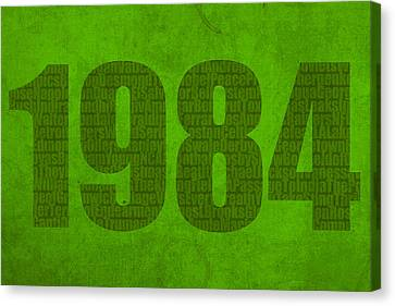 My Favorite Year 1984 Word Art On Canvas Canvas Print by Design Turnpike