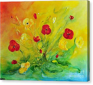 Canvas Print featuring the painting My Favourite by Teresa Wegrzyn