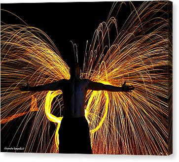 My Fire Angel Canvas Print by Alexandra  Rampolla