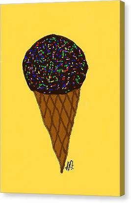 My First Ice Cream Cone Canvas Print