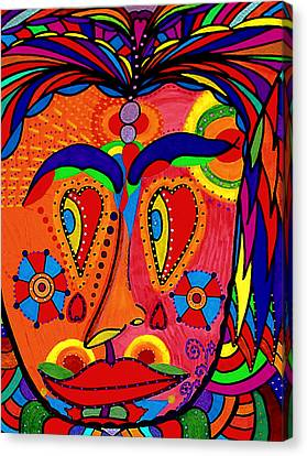 My Funny Little Clown Face - Color Love Canvas Print by Marie Jamieson