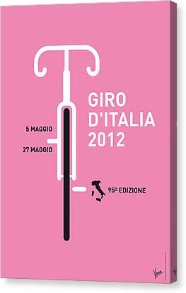 Competition Canvas Print - My Giro D' Italia Minimal Poster by Chungkong Art